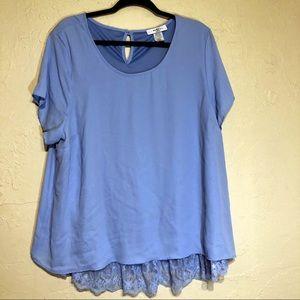 2x Moa Moa Woman Layered Blue Shirt